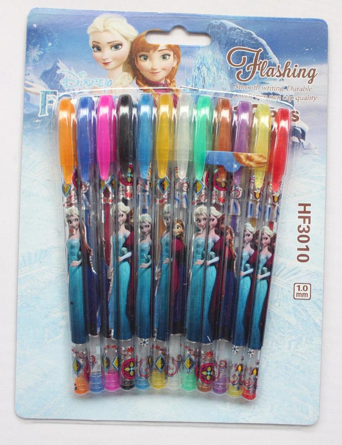 Glitter Toes Supplies 5 Box 60 Pcs 12pcs Lot Frozen Gel Pen Shining Glitter Writing Supplies