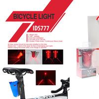Bike Bicycle Laser Beam LED Flash Safety Rear Tail Light Lamp New