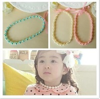 Free shipping! new ABS pearl necklace&Bracelet set children/kids Candy beaded necklace& Bracelet set /baby Children Jewelry Set