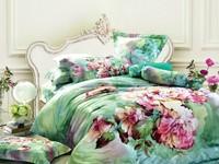 Green Oil Painting Pastoral quilt/duvet cover queen king size 4pcs Floral bed linen bedclothes bedding set cotton home textile