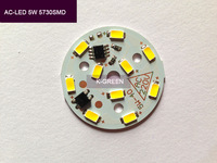New design Integrated IC LED driver cree 5W 5730SMD with PCB direct connect AC 220V free shipping