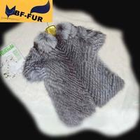 2014 New Arrival Genuine Natural twill Furs Gilet Real Silver Fox Fur Jacket Vest Women Furs Outerwear Waistcoat