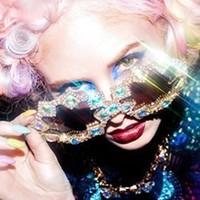 2014 New woman brand design sunglasses  full drill glasses star Sunglasses geometry Sunglasses female sun glasses free shipping
