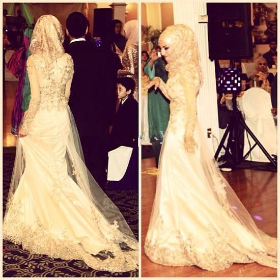 Muslim Wedding Veil Promotion-Shop for Promotional Muslim Wedding Veil ...