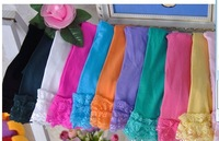 girls velvet short baby girl candy color lace leggings 12 colors for 2-9 years