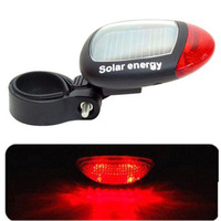 Free shipping Solar taillight bike light mountain bike bicycle accessories bicycle taillights flashing warning lights