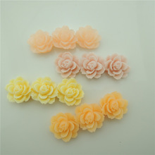 Wholesale Jewelry Mixed Lots Flatback Resin Beautiful Flower Rose Cameo Cabochons For Necklace Pendant Decoration 45