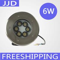 12V/24V 6*1W LED Underground light IP68 LED Deck Light  led inground light warm white/white/red/gree/blue/RGB