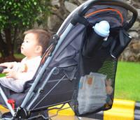 1 Storage MESH Bag Baby Infant Stroller Buggy Pram Pushchair Carry Travel Accessories Bottle Diapers Organizer Handbag