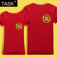 Task lovers cup portuguesa team clothing memorial plus size short-sleeve T-shirt class service
