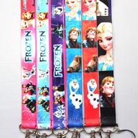 Frozen lanyard card hanging rope Cartoon Free shiping wholesale 100 pcs/lot