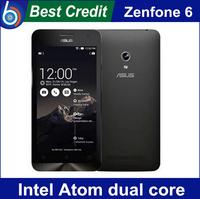In stock Original ZenFone 6 Cell phones 2GB+ 8GB / 2GB+16GB Intel Atom Dual cores Dual Cards smart phone Free shipping/ Eva