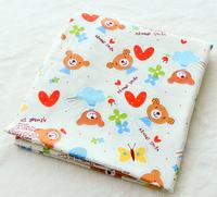 Width 160CM cute moe  bear Cotton Cartoon Fabric Baby Cloth Pillow Cushion Curtains Kids Bedding Textile For Sewing
