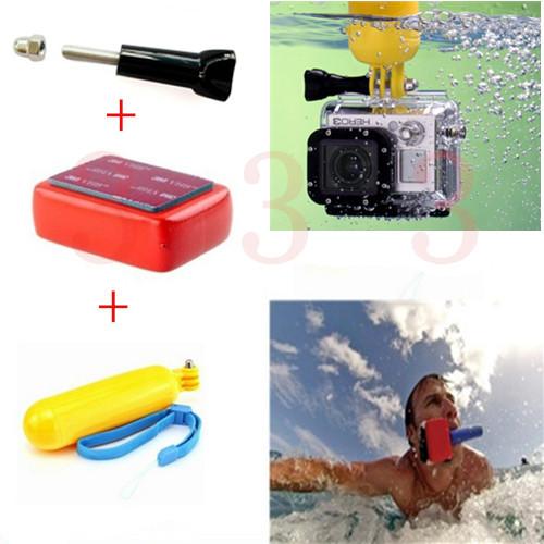 Go pro Accessories GoPro Handheld Bobber Monopod+Gopro Floating Mount+3M Adhesive+Gopro Screw For Gopro Hero3 4 3+ sj4000 Camera(China (Mainland))