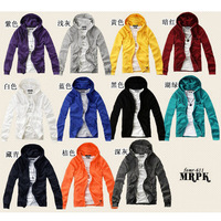 Free Shipping 2014 Men's Hoodies,sport suit men,men sportswear,millenum multi-color with a hood cardigan sweatshirt shining blue