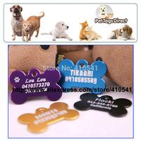 New Arrival Free Shipping Dog Product 50mm*34mm 100 pcs/lot Aluminum Alloy Big Size Dog Bone Shape Pet tags Custom Pet Dog tags