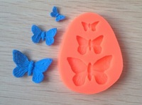 Free shipping 1PCS Butterfly shaped Chocolate Candy Jello 3D Mold Mould Cartoon Figre/cake tools