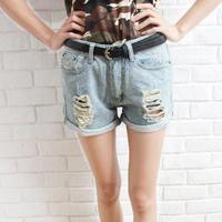 M&C S376 New 2014 fashion hole shorts female denim shorts mm / women jeans shorts Wholesale casual pants