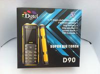 (In Stock)1800mAh Big Battery Original Dgtel D90 Power Bank Phone Loud Soud Camera Torch Dual Sim Long Standby Russian Keyboard