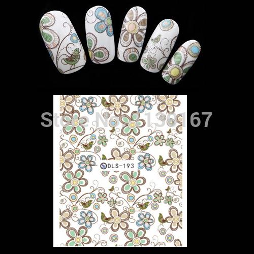 2015 new nail decorations Export Japan Korea cartoon nail stickers Popular Water transfer stickers 3D nail art stickers DLS-193(China (Mainland))