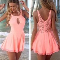 Free shipping The new summer 2014 fashion hollow out thin dress lace chiffon lace dress