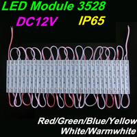 LED Modules DC12V Waterproof module 3528 Red/Green/Blue/Yellow/White/Warmwhite IP65 Billboard dedicated light-emitting module