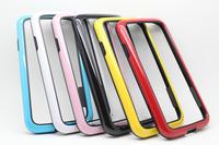 o241 alta qualidade dupla- cor design transparente carros quadro macio tpu case capa protetora para samsung s4 i9500 telefone