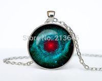 Helix Nebula pendant Helix Nebula necklace Helix Nebula jewelry galaxy universe stars space gift Glass Cabochon Necklace A0096