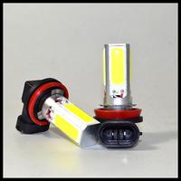 Free Shipping 2 X COB LED Lamp H11 H8 COB DRL Day Driving Head Light Fog Bulb White Car Super Bright cob 20w led