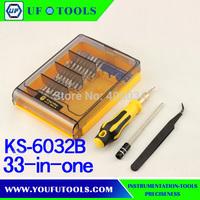 33 in 1 screwdriver set. KS6032B Multi-Use Screwdrive Set for Mobile Phone Repair Kit Tools