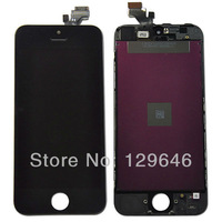 10pcs/set High quality Black LCD display For iphone 5 Touch Screen Digitizer Assembly replacement with Frame free shipping