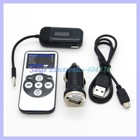 Universal 3.5mm Audio Jack Car FM Transmitter With Car Charger For iPhone iPod Samsung Smart Phone