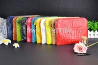 Promotion 2014 new arrival genuine leather crocodile women handbag shoulder bag messenger bag Day clutch handbag free shipping