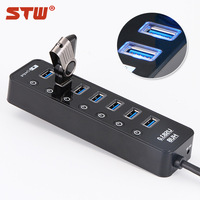 High-quality mini usb hub,hub usb3.0, 7-ports usb 3.0 hub Computer Laptop Peripherals Accessories