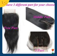 Peruvian Virgin Hair Closure Lace Closure Straight 4x4 Middle 3 Way Part Bleached Knots Juliet Hair Top Closure