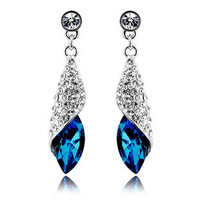2014 new Designed Austrian crystal earrings sea thoughts - Desert multicolor hot sale
