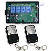 AC110V 220V 4CH RF Wireless Remote Control System / Radio Switch remote switch 220v Learning code receiver