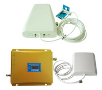 LCD screen dual band DCS 1800MHz + GSM 900Mhz phone repeater booster kit