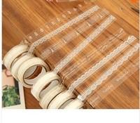 Free shipping10pcs/lot Sweet lace transparent decoration Adhesive Tape washi white DIY stick label Gift Stationery sticker label
