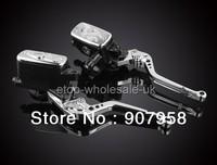 "High-strength AL 7/8"" Motorcycle Clutch Brake Levers Dual Master Cylinder Kit Reservoir For Hond"