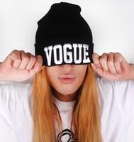 2014 Hot Sale hat Cheap VOGUE Beanies,Autumn Winter Wool Knitted Men Women Caps Casual Skullies Hip-hop London Boy BLACK/GRAY