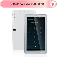 9 inch 2G Tablet Allwinner A23 Dual Core Tablet Capacitive Screen Android 4.2 512M 4GB Dual Camera WIFI Bluetooth Phone Tablet