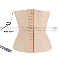 hot sale waist training corsets shaper Beige underbust corset steel waist cincher shaper belt body shapers for women