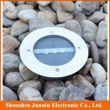 5Pcs/lot Solar Floor Buried Light with 3 Led Solar Ground Light Solar Underground Light Free Shipping(China (Mainland))