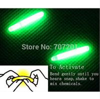 Green Night Fishing Light 4.5mm x 39mm LED Fluorescent Dark Glow Sticks 100PCS/50Bags Free Shipping