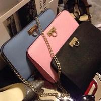 2014 new fashion  genuine leather women shoulder  bag small mini clutch bag  cowhide chain messenger bag