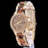 rose gold women dress  2014 women rhinestone watch famous brand montre femme luxury reloj mujer vintage relogio fashion