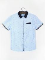 2 2 men's clothing men's clothing the trend of fashion modern short-sleeve shirt
