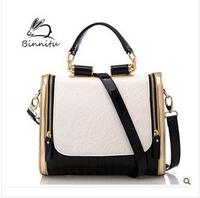 Casual retro handbag 2014 Britsh Style Stamp One Shoulder Bags Women Leather Handbags Messenger Handbag