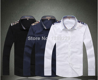 Cheap Sale Burb Fashion Plaid Shoulder Full Shirts For Men Hot Streetwear 100% Cotton Manly Tees New Style Casual Workout Shirts